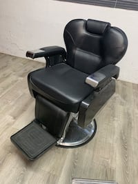 black leather padded rolling armchair Santa Clara, 95050