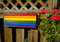 Wood Pride Flag (Double-Sided) Indoor/Outdoor Oakville, L6H 3H2