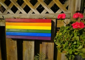 Wood Pride Flag (Double-Sided) Indoor/Outdoor