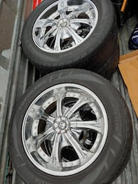 "20"" Rims and Tires for sale."
