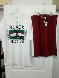 Men Maroon & White Track Shorts & Custom Tee.. Duncanville, 75137