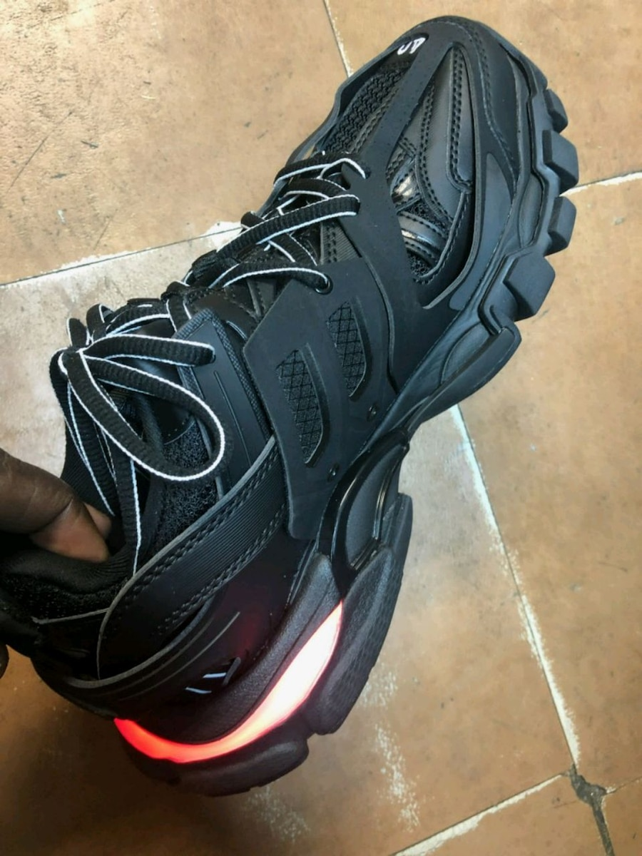 Balenciaga Track Nylon Mesh and Rubber Sneakers What