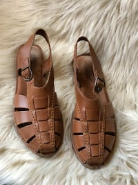 pair of brown leather open-toe sandals Denver, 80204