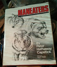 Vintage hunting book Maneaters by Peter H. Capstic Woodstock, 22664