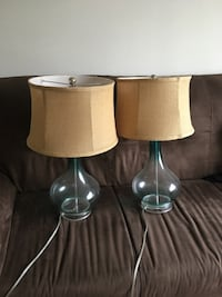 Two glass base table lamps  Arlington, 22209