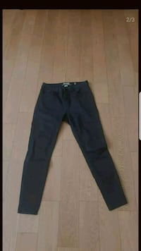 Super skinny high rise black jeans