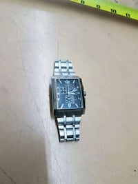 square silver analog watch with link bracelet Edmonton, T5P 3Y3