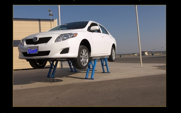 NEW EZ Car Lift with Extension Ramp (Made in USA) Portable Car Jack