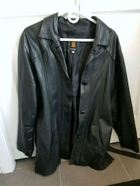 black leather button-up jacket Calgary, T3M 1Z4