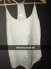 white scoop-neck sleeveless top Sherwood Park, T8A 2T7
