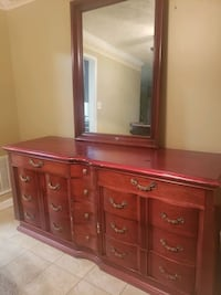 100% solid wood dresser and mirror