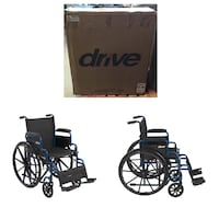 "Drive medical blue streak wheelchair with flip back desk arms 18"" seat Stafford, 77477"