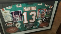 Marino 13 NFL jersey shirt shadow box