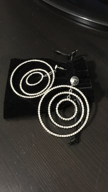 New crystal hoop earrings