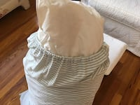 Queen size down comforter. Clean. Used 1 season. Use with your duvet cover. Price is fair & firm. Yorktown Heights, 10598