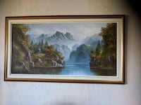 Oil Painting On Canvas Signed Nobleton