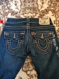 Pair of blue True Religion denim bottoms Edmonton, T6R 0L4