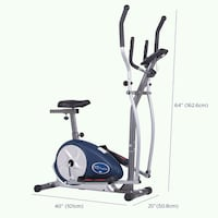 Body Champ BRM3671 Elliptical and Exercise Bike Dual Trainer