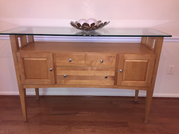 Sensational Natural Solid Maple Sideboard Buffet Table Home Interior And Landscaping Transignezvosmurscom