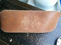 brown Power-printed leather case Hamilton
