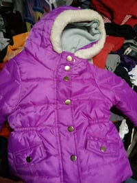 pink and white bubble jacket Lubbock, 79424