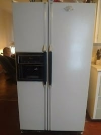 white side-by-side refrigerator with dispenser Flint