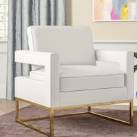 Brand New White Leather Chair Laurel