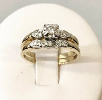 14k yellow gold diamond engagement ring set *Compare at $1,450+ Vaughan, L4J