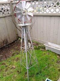 Wind mill metal 54 inches high