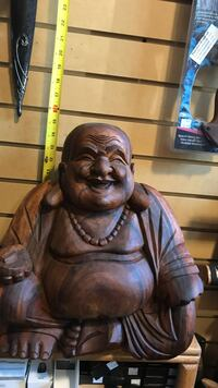 Hand carved mohagany Buddha from Bale—was 175 now 150$  Aurora, 80016
