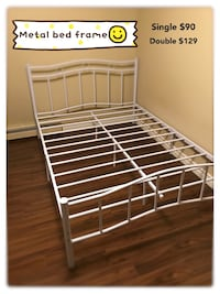 Brand new white metal platform bed frame in single and double warehouse sale  多伦多, M1S 1J3