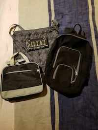 three black backpack, crossbody bag and duffle bag Georgetown, 40324