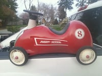 red and black Radio Flyer wagon White Rock