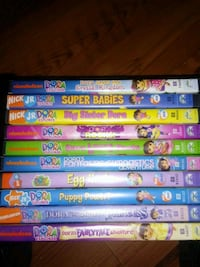 10 Dora the Explorer dvds Martinsburg, 25405