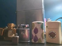 Colection of zippo and butain lighters.  Quincy, 02170