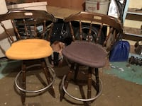 Two bar stool good conditioning  fabric no rips just a bit dusty in storage