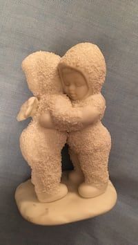 Snow babies ceramic figurine