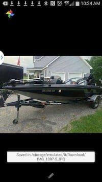 CASH Only! 17' black and gray nitro bass boat