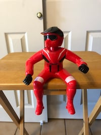 Vintage Yamaha Toy Motorcycle Rider Large Man in Red w/Black Plastic Helmet Baltimore, 21236