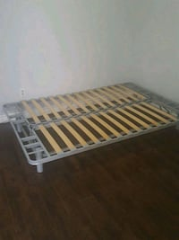 white and brown wooden bed frame/futon Vancouver, V5K 2H8