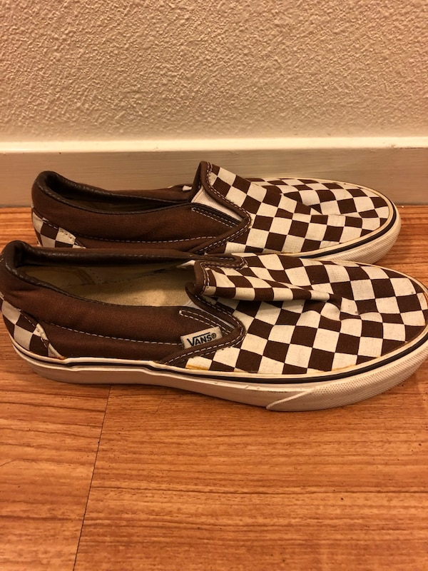 6b8f38d2efe50e Used Brown Checkered Vans for sale in Oakland - letgo