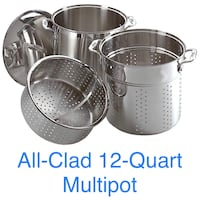 All-Clad 12-Quart Perforated Multipot + Steamer Basket Haymarket, 20169