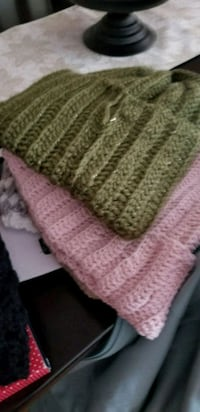 pink and white knitted textile Santaquin, 84655