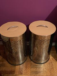 2 Stainless steel canisters/hampers Toronto, M4P 1V3
