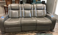 Sofa Recliner powered headrest and footrest, lighted cup holders. Leather Terrytown, 70056