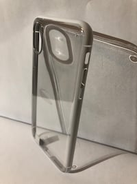 iPhone X Clear Case White Trim