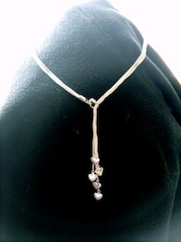 GORGEOUS SILVER necklace DANGLING HEARTS  South Bend