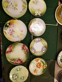 Assorted floral plates and saucers 679 mi