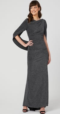 Dramatic metallic dress with back drape— new with tags Whitby, L1P 1P5