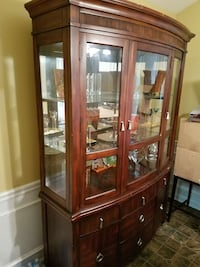 brown wooden display cabinet Buford, 30518